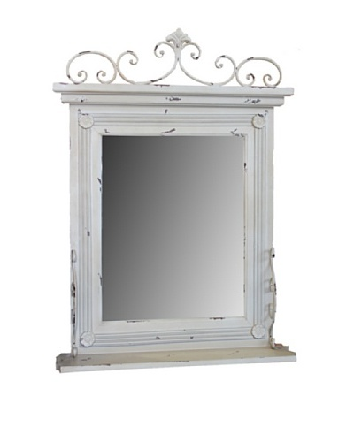 Whitewashed Wall Mirror