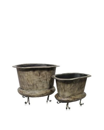 2-Piece Metal Planter