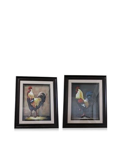 Set of 2 3D Rooster Frames