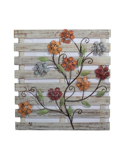 Wooden Floral Wall Décor