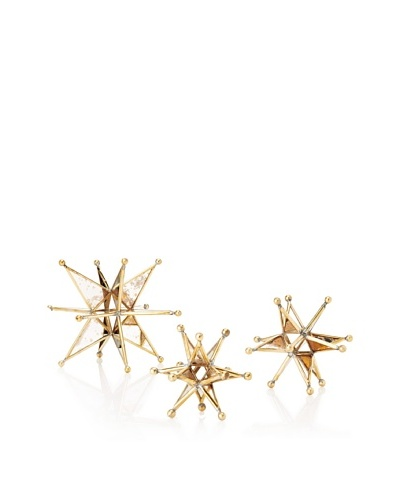 The HomePort Collection Set of 3 Stars, Golden