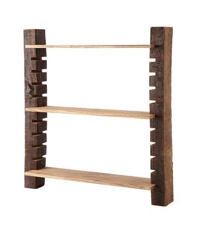 The HomePort Collection Unysn Elm Wall Shelf, Short