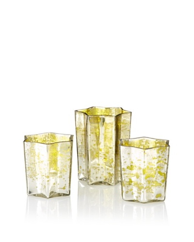 The HomePort Collection Zara Star Votive, Lime