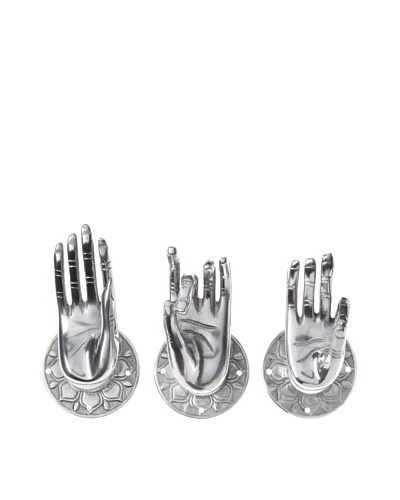 The HomePort Collection Set of 3 Buddha Wall Hands