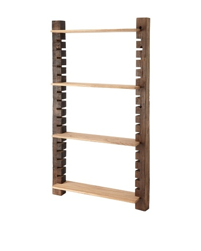 The HomePort Collection Unysn Elm Wall Shelf, Tall