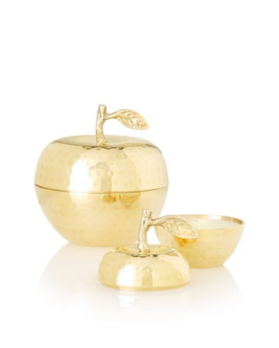 The HomePort Collection Pair of Delice Apple Candles, BrassAs You See