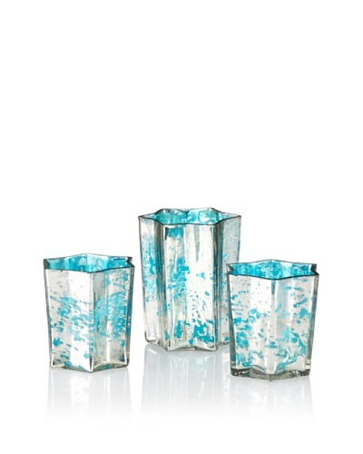 The HomePort Collection Zara Star Votive, Aqua
