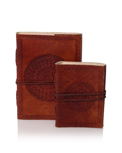 The HomePort Collection Set of 2 Leather Traveler's Notebooks