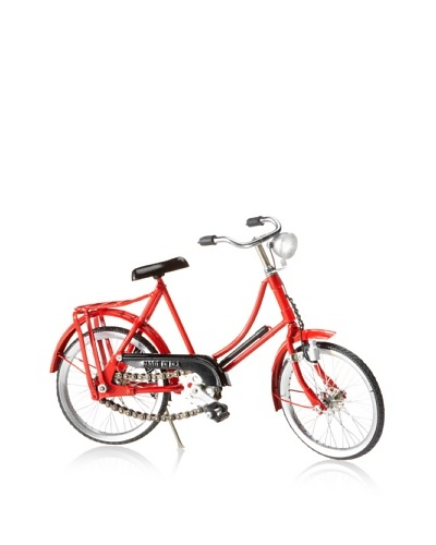 "The HomePort Collection Retro Red ""Her"" Bicycle, Red"