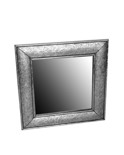 Badia Silver Nickel Square Mirror