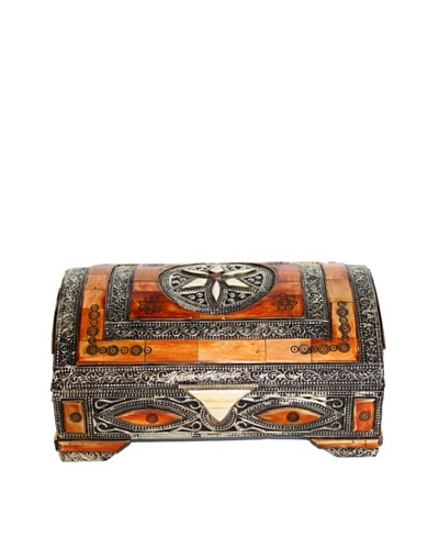 Badia Metal and Bone Rectangular Jewelry Box