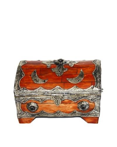 Badia Metal and Bone Rectangular Jewelry Box