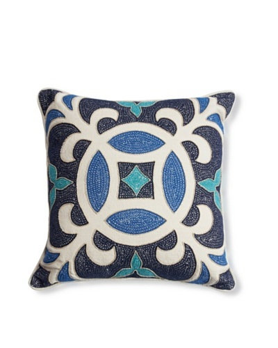Barclay Butera Casablanca Throw Pillow, Blue, 18 x 18