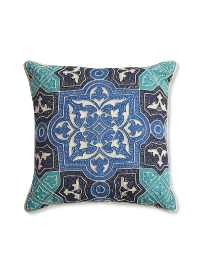 Barclay Butera Kenitra Throw Pillow, Blue, 18 x 18