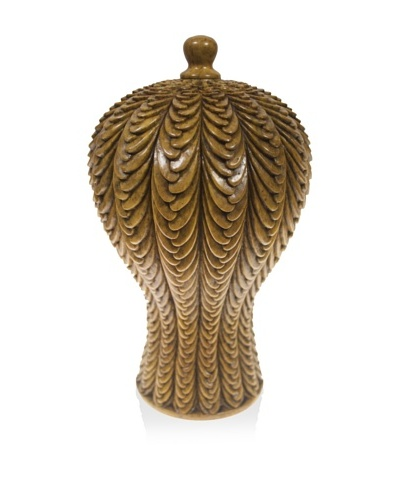 The Niger Bend Soapstone Vase with Basketweave Design