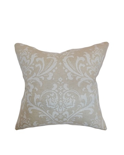 The Pillow Collection Olavarria Damask Pillow, Pale Blue
