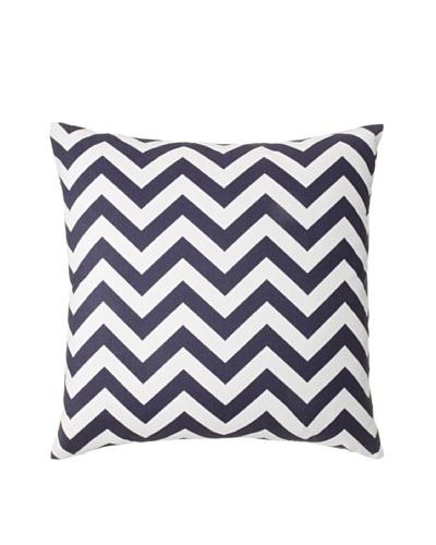 The Pillow Collection Xayabury Zig-Zag Decorative Pillow, Blue, 18 x 18