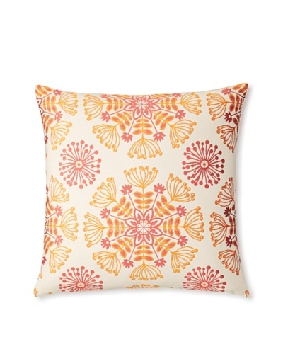 The Pillow Collection Jamesie Floral Decorative Pillow [Flame]