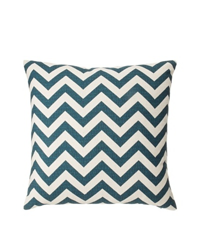 "The Pillow Collection Xayabury Zig-Zag Decorative Pillow, Titan, 18"" x 18"""