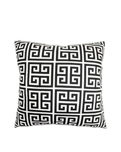 The Pillow Collection Paros Greek Key Pillow, Black