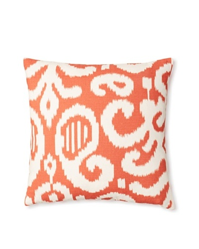 The Pillow Collection Teorra Ikat Decorative Pillow [Flame]