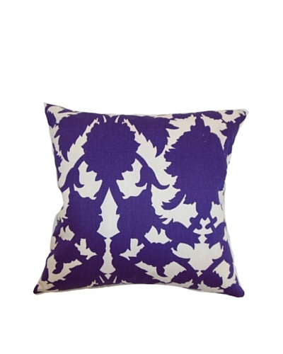 The Pillow Collection Fakahina Damask Pillow, Amethyst