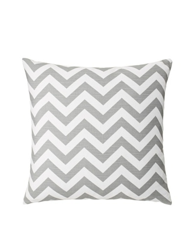 "The Pillow Collection Xayabury Zig-Zag Decorative Pillow, Ash/Slub, 18"" x 18"""