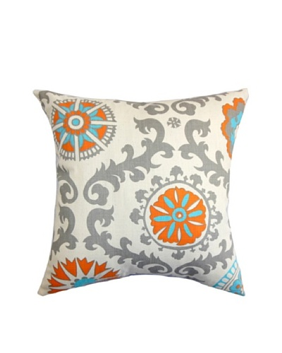 The Pillow Collection Kaula Geometric Pillow, Mandarin, 18 x 18