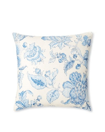 The Pillow Collection Yette Toile Decorative Pillow [Porcelain]