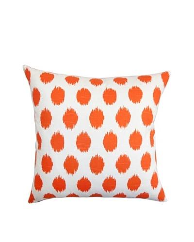 The Pillow Collection Kaintiba Ikat Pillow, Orange, 18 x 18