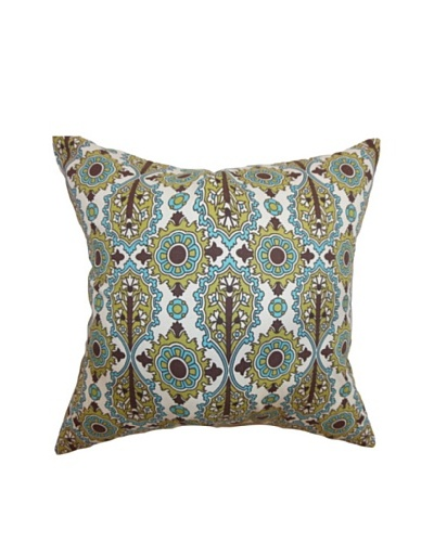 The Pillow Collection Yelimane Geometric Pillow, Chocolate