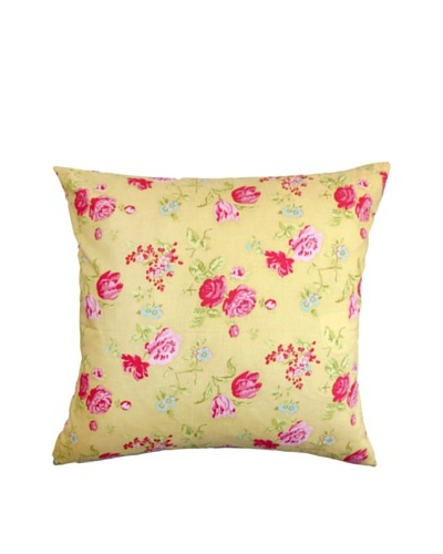 The Pillow Collection Verrin Floral Pillow, Yellow