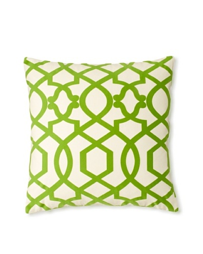 The Pillow Collection Maeret Moorish Decorative Pillow, Kiwi, 18 x 18