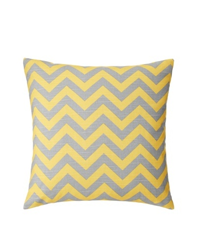 "The Pillow Collection Xayabury Zig-Zag Decorative Pillow, Corn, 18"" x 18"""