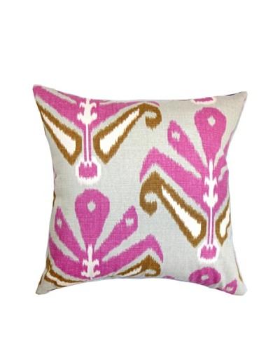 The Pillow Collection Sakon Ikat Pillow Purple, Purple/Brown