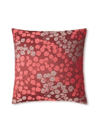 The Pillow CollectionFleur Floral Decorative Pillow, Bordeaux, 18 x 18
