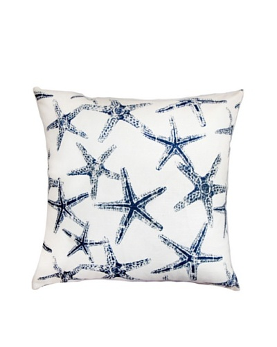 The Pillow Collection Ilene Coastal Pillow, Blue/White