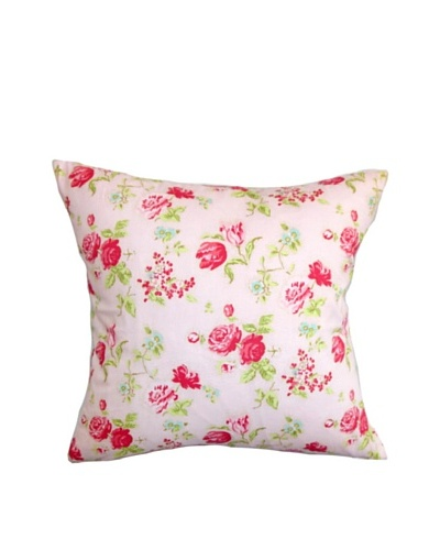 The Pillow Collection Verrin Floral Pillow, Pink