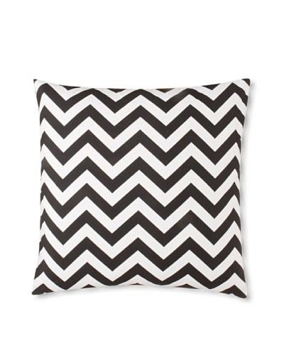 The Pillow Collection Xayabury Zig-Zag Decorative Pillow, Black, 18 x 18