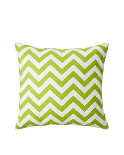 The Pillow Collection Xayabury Zig-Zag Decorative Pillow, Chartreuse, 18 x 18