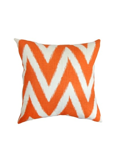 The Pillow Collection Bakana Zigzag Pillow, Mandarin, 18 x 18