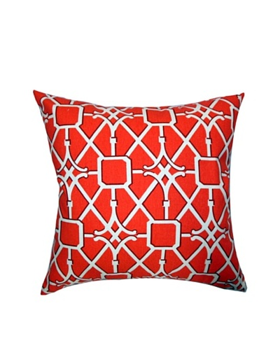 The Pillow Collection Isildur Geometric Pillow, Tangerine