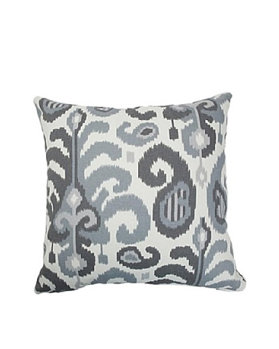 The Pillow Collection Scebbi Ikat Pillow, Steel