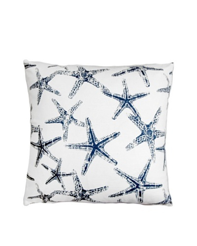 "The Pillow Collection Ilene Coastal Pillow, Blue/White, 18""x18"""