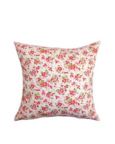 The Pillow Collection Florianne Floral Pillow, Pink