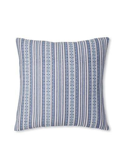 The Pillow Collection Gawanna Stripes Decorative Pillow, Blue, 18 x 18