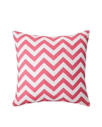 The Pillow Collection Xayabury Zig-Zag Decorative Pillow, Candy Pink, 18 x 18