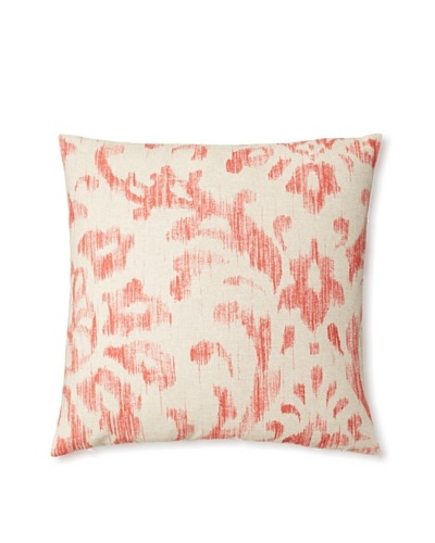 The Pillow Collection Ignace Ikat Decorative Pillow, Red, 18 x 18