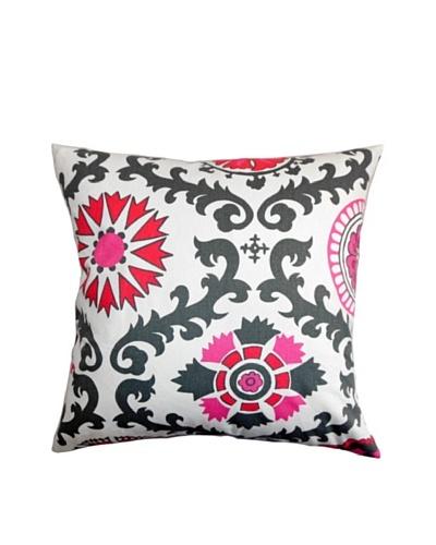 The Pillow Collection Kaula Geometric Pillow, Grey/Pink