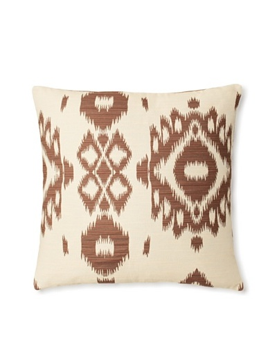 The Pillow Collection Gaera Ikat Decorative Pillow [Chocolate]